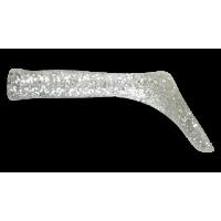 Хвост для джерк бейта Bandit Tail (серебряный с блесками) 2шт.